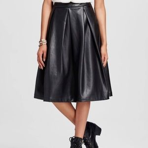 Who What Wear Faux Leather A-Like Skirt
